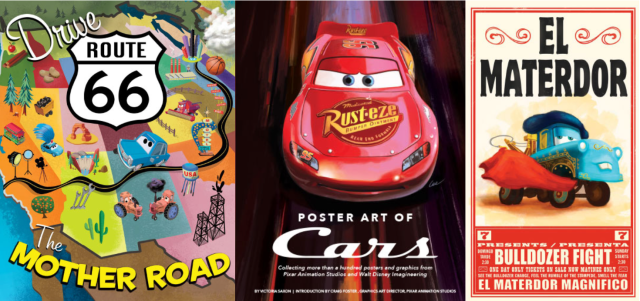 Poster Art of the World of Cars: All 3 Films, Mater's Tall Tales & More Highlighted Throughout the Book